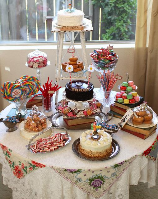 Wonka inspired sweet table