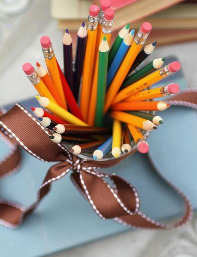 School pencils bouquet