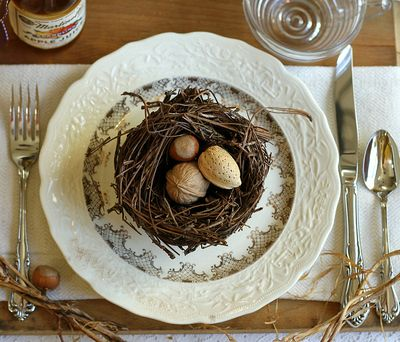Nutty tablescape design by Kay Ellen