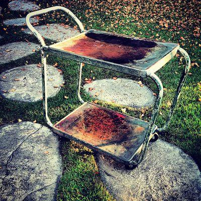 Weathered & old mechanic cart